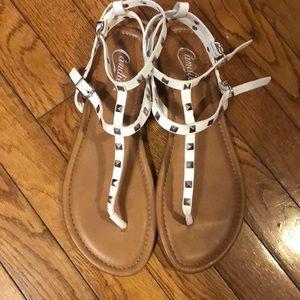 Candies studded white gladiator style sandal